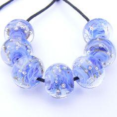 pale blue spankle beads by SoozBeads - Sue doran