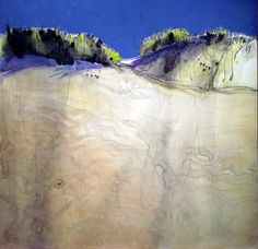 Espace dunaire - répertoire n° 1676 - by Philippe Chesneau - Dim. 31 x 31 cm - Aquarelle, encre et acrylique sur papier Yupo