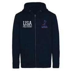 USA Field Hockey Essential Full Zip Hoodie - Navy Blue $49.95