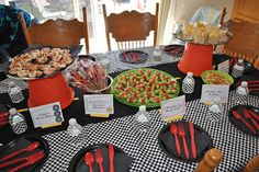 Meagan's How To - food spread for the Disney Cars Birthday Party