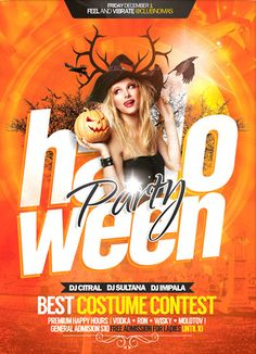 Free Flyer: Halloween Celebration Flyer - http://www.freepsdflyer.com/free-flyer-halloween-celebration-flyer/ Free Flyer: Halloween Celebration Flyer  A great Halloween Flyer party, poster or invitation design for your next party. Editable colors, text, effects, etc., you only need to place your photo and edit the text.  #Bar, #Club, #Costume, #Electro, #Graduation, #Halloween, #IndieRock, #Nightclub, #Party