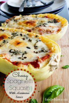 Cheesy Spaghetti Squash with Marinara Sauce - Food and Whine