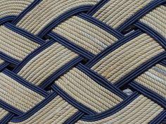 38 x 20 Rope Doormat Rug Natural and Navy by AlaskaRugCompany, $189.00