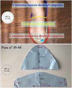 molde e pap chinelo de tecido Crochet Shoes Pattern, Shoe Pattern, Crochet Slippers, Make Your Own Shoes, How To Make Shoes, Cute Quilts, Diy For Men, Denim Shoes, Shoe Art