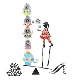 belinda suzette art, illustration and design: The Art Of Play for Women's Circus