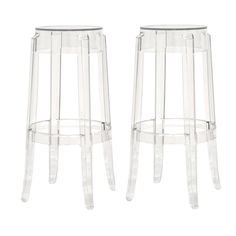 Baxton Studio Bettino Acrylic Barstool - Set of 2