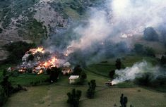 The village of Ljuta on Mount Igman some 40km southwest of Sarajevo, on July 22, 1993. (Reuters/Stringer)