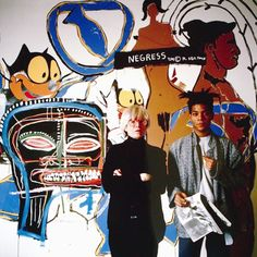 Warhol & Basquiat. Hong Kong born artist Tseng Kwong Chi photographed artists Jean-Michel Basquiat & Andy Warhol in1985.