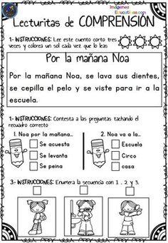 Lecturitas de comprensión para Infantil y primer ciclo de primaria Os dejamos estas fantásticas actividades para trabajar la comprensión lectora de los más pequeños. Este archivo está compuesto de lecturas cortas diferenciadas de comprensión...