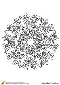 Coloriage superbes mandalas indien