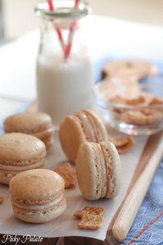 Cinnamon Toast Crunch Macarons | How Sweet It Is