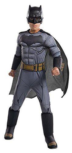 Batman Justice League Superhero Fancy Dress Up Halloween Deluxe Child Costume