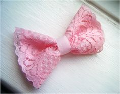 DIY Lace Hairbow Tutorial