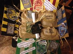 For all the Harry Potter fans, I have a msissionary package idea for you! I sent Taylor a Harry Potter themed package. She loves Harry Potter!!!! Her new Bishop's name is James Potter, when she heard it she geeked out! Cant wait for her to get it. I don't know who loves this more me making the package or Taylor getting them.