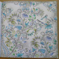 Coloriage livre Forêt Enchantée Johanna Basford par steffy Elsass crea