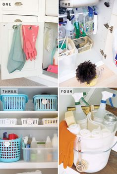 Organise your way to a green & happy home - laundry room & cleaning product tips