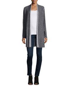 -6B6E Eileen Fisher  Organic Cotton Slim Tank Organic Soft Stretch Skinny Jeans, Washed Indigo