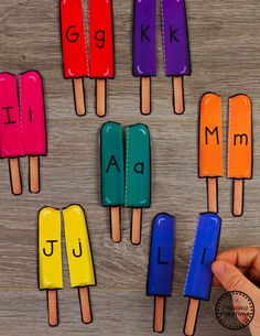 Preschool Letter Matching Puzzles - Summer Theme