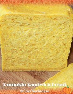 Pumpkin Sandwich Bread (1) ~ Simple Recipes @ Color Your Recipes