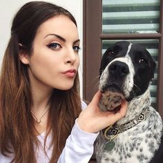 Liz Gillies with her dog, Lucy