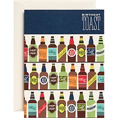Beer Toast Birthday Card