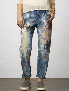 Paint Splatter Boyfriend Jean - Ralph Lauren