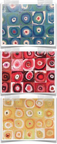 Kandinsky lesson for kids with limited pallet Art Activities For Kids, Preschool Art, Art For Kids, Primary School Art, Elementary Art, Third Grade Art, Group Art Projects, Kandinsky Art, Ecole Art