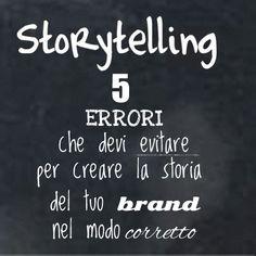Lo storytelling non deve essere inteso come uno strumento di vendita | 4writing.it