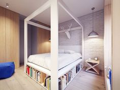 Elevate Home Design - That House by Plasterlina . Built In Furniture, White Furniture, Bedroom Storage Inspiration, Interior Architecture, Interior Design, Interior Decorating, Four Poster Bed, Small Apartment Decorating, House And Home Magazine