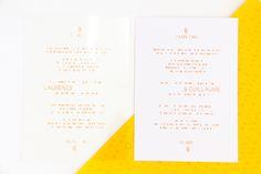 L + G - invitation en PVC transparent - Allons-y Alonso