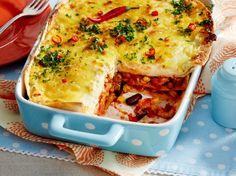 Unser beliebtes Rezept für Tortilla-Lasagne mit Hähnchen und mehr als 55.000 weitere kostenlose Rezepte auf LECKER.de.