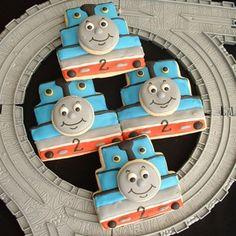 Thomas the Train Birthday Cookies