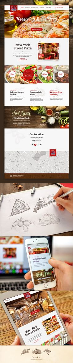Here is one of our recent projects. It was adaptive web design for New-York Street Pizza. Check out the process in attachment :)