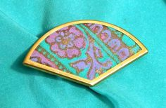 Green and Purple Silk Brooch  #edgy #fashiondesign #glamlife #hippie #indiestyle