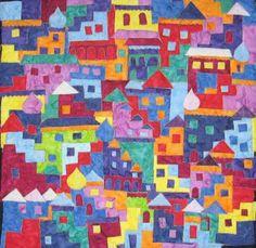 Happy Villages - Quilting Adventures