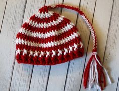 Striped Cardinals Jamie Cap  03 Months  by NapTimeCreationsMO, $10.00