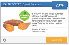 SavingStar Fresh Produce Coupon – Save 20% on Loose Sweet Potatoes