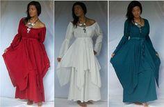 Lagenlook Peasant Renaissance Fayre Long Sleeved Dress