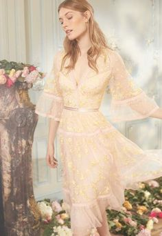 Let This Dreamy Dress Collection From Needle and Thread Take Your Breath Away Trench Coats, Floral Print Design, Ballerina Dress, Embellished Gown, Bridesmaid Dresses, Wedding Dresses, Prom Dresses, Summer Dresses, Fitted Bodice