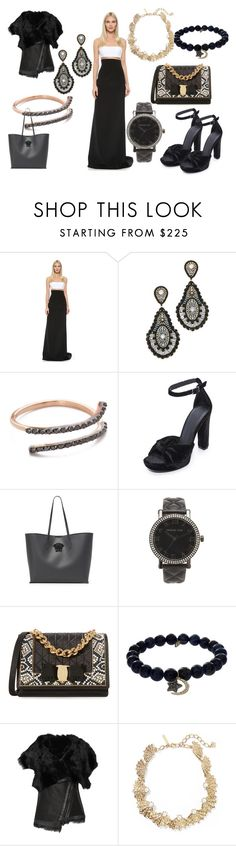 """""""Bring Some Spark Along.....!!!"""" by hillarymaguire ❤ liked on Polyvore featuring KaufmanFranco, Miguel Ases, Kismet by Milka, Joie, Versace, Michael Kors, Salvatore Ferragamo, Sydney Evan, Karl Donoghue and Oscar de la Renta"""