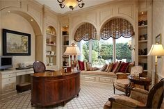 Beautiful Home Office   | LUXURY HOMES