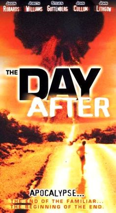 The Day After, a thought provoking and controversial made for TV movie is first aired. Set primarily in a small Kansas town, the movie theoretically portrays what could occur before, during, and after a nuclear holocaust. The movie draws 100 million viewers and remains the highest rated TV movie to date. (1983)