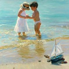 Gallery of artist Vladimir Volegov, portraits of very beautiful women. Paintings I Love, Beautiful Paintings, Painting Pictures, Vladimir Volegov, Ecole Art, Guache, Beach Scenes, Beach Art, Seaside Art