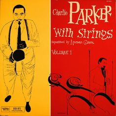 Charlie Parker Vol 01 with strings, cover by David Stone Martin