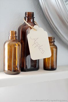 I just love vintage brown bottles for fall! They are such an easy way to add touches of fall to your decor. If you see brown bottles make sure to get them! Brown Glass Bottles, Bottles And Jars, Perfume Bottles, Craft Projects For Adults, Craft Activities For Kids, Kids Crafts, Diy Projects, Antique Bottles, Vintage Bottles