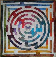 "Maze (Doolhof 2005)  95cm x 95cm (37.5"" x 37.5"")"