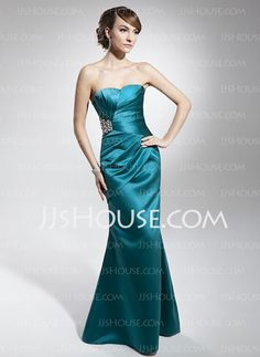 Evening Dresses - $116.99 - Sheath Sweetheart Floor-Length Satin Evening Dresses With Ruffle Beading (017014678) http://jjshouse.com/Sheath-Sweetheart-Floor-length-Satin-Evening-Dresses-With-Ruffle-Beading-017014678-g14678