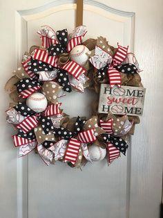 Baseball Wreath Burlap Baseball Wreath Front Door Hanger Front Door Decor Summer Wreath Burlap Baseballs – Wreath For Front Door İdeas. Baseball Wreaths, Sports Wreaths, Football Wreath, Baseball Crafts, Baseball Boys, Baseball Anime, Baseball Boyfriend, Baseball Cookies, Baseball Quotes