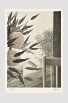Leaning Flowers Lithograph by Robert Kipniss