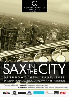 Sax in the City Poster & Ticket Design by Freelance Collective , via Behance